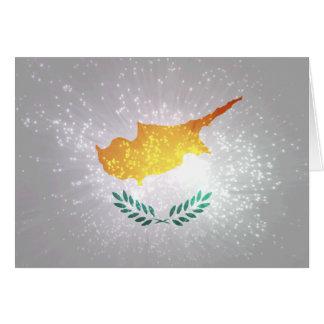 Κύπρος σημαία cartão de nota
