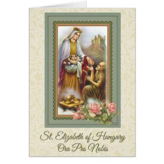 0031 St. Elizabeth da oração do cartão de Hungria