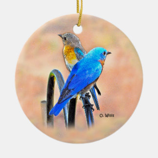 010 ornamento cerâmico do amor 2,87 do Bluebird