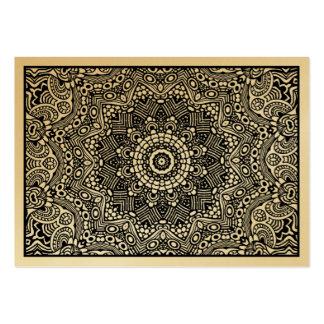 01 Kaleidoscopic (cartão do ouro) Cartão De Visita Grande