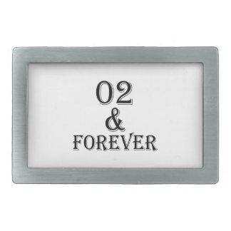 02 e para sempre design do aniversário