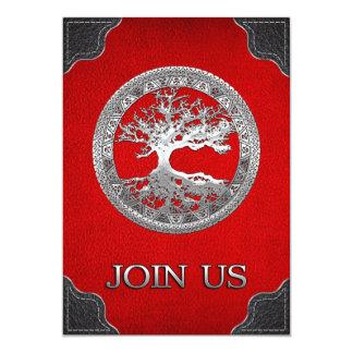 [03] Árvore de vida celta de prata Convites Personalizado