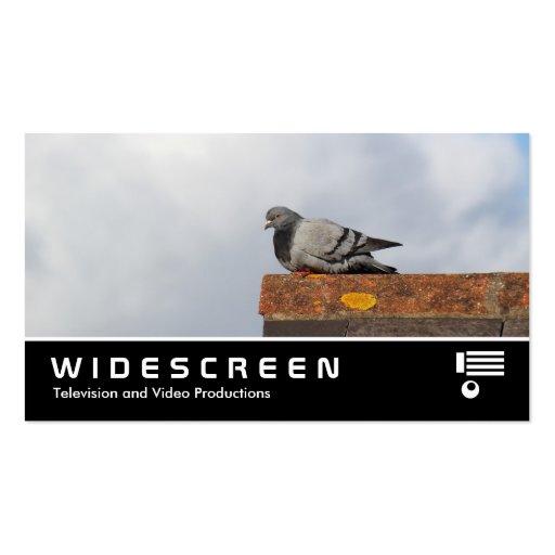 0466 Widescreen - Pombo do bom dia Cartões De Visitas
