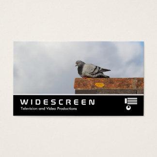 0466 Widescreen - Pombo do bom dia Cartão De Visitas