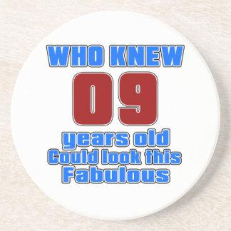 09 designs do aniversário porta copos de arenito