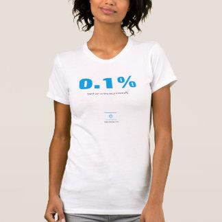 0,1% e nós são os agressores? t-shirts