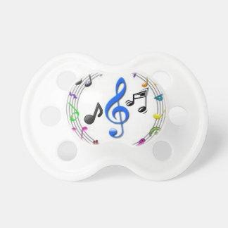0-6 do Pacifier meses de símbolos de música Chupeta