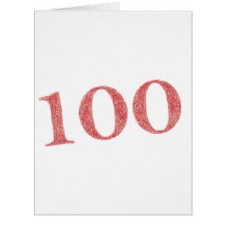 100 anos de aniversário cartão comemorativo grande
