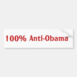 100%, Anti-Obama Adesivo Para Carro