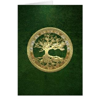[100] Árvore de vida celta [ouro] Cartão Comemorativo