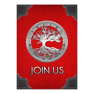 [100] Árvore de vida celta [prata] Convites Personalizado