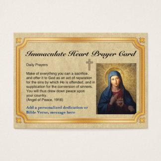 100 cartões imaculados da oração do coração de x