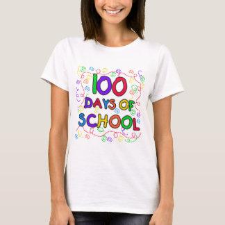 Camiseta 100 dias do camiseta e dos presentes dos confetes