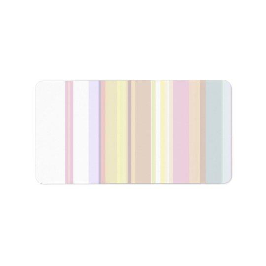 100 magros: Padrões macios artísticos das cores Etiqueta De Endereço