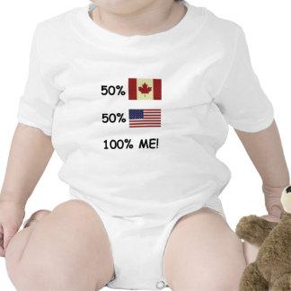 100% MIM canadense/americano Macacãozinho
