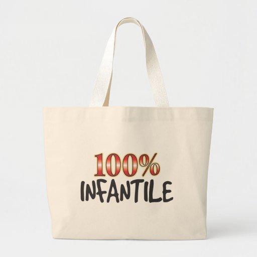 100 por cento infanteis bolsa para compras