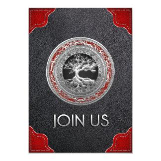 [100] Tesouro achado: Árvore de vida celta [prata] Convite