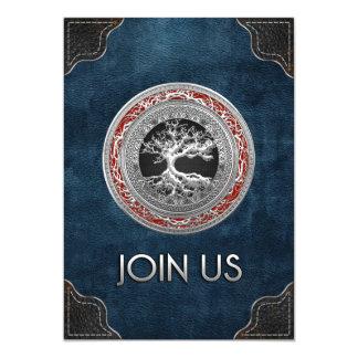 [100] Tesouro achado: Árvore de vida celta [prata] Convites Personalizado