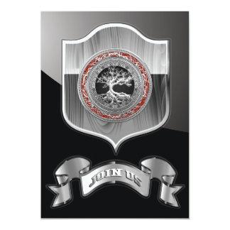 [100] Tesouro achado: Árvore de vida celta [prata] Convite Personalizados