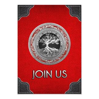 [100] Tesouro achado: Árvore de vida celta [prata] Convites Personalizados