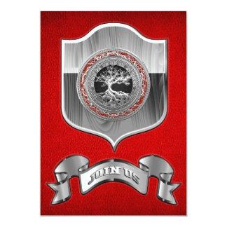 [100] Tesouro achado: Árvore de vida celta [prata] Convites