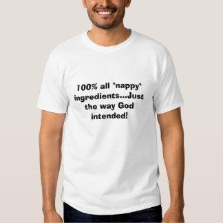 """100% todos os ingredientes da """"fralda""""… apenas o t-shirt"""