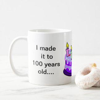 100th aniversário - branco caneca do clássico de