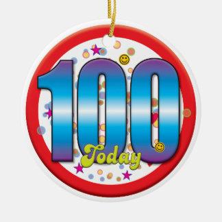 100th Aniversário hoje v2 Ornamento Para Arvore De Natal