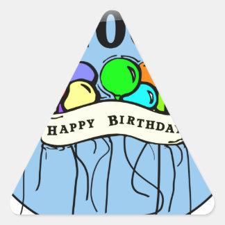 100th ballons felizes do aniversário adesivos triângulo