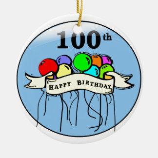 100th ballons felizes do aniversário enfeites para arvores de natal