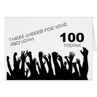 100th Cartão de aniversário com os aplausos que ac