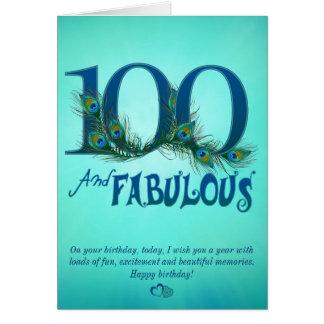 100th Cartões do modelo do aniversário