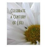 100th Celebração-Margarida do aniversário Convites Personalizados
