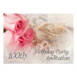 100th Convite de aniversário