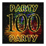 100th convite de aniversário com