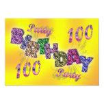 100th convite de festas