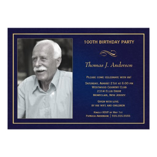 100th Convites de festas de aniversários com foto
