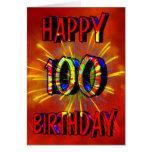 100th Fogos-de-artifício do aniversário Cartoes