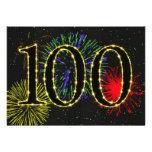 100th invitate da festa de aniversário convites personalizados