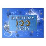100th O abstrato ilumina o convite de aniversário