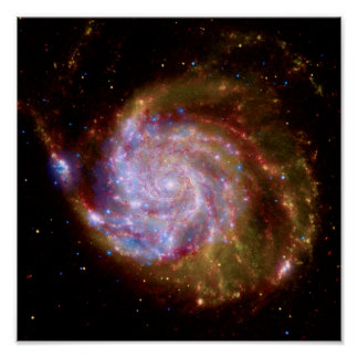 101 mais messier galáxia espiral - foto do pôster
