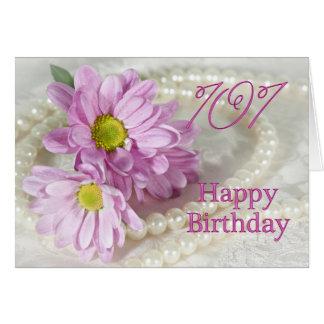 101st Cartão de aniversário com margaridas