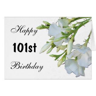 101st Flores do cartão de aniversário