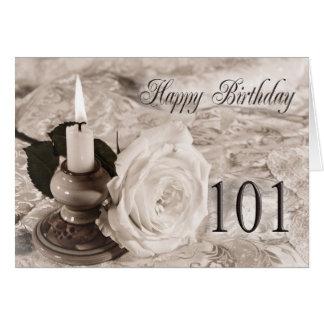 101st O cartão de aniversário com uma antiguidade