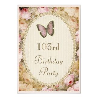 103rd Notas da música da borboleta dos rosas do Convites