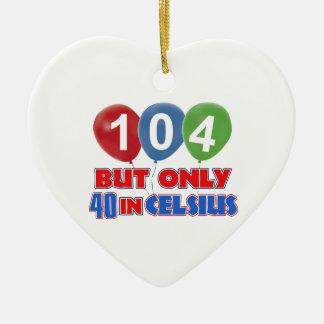 104th design do aniversário enfeite