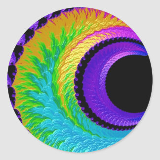 108-39 lua metálica do crescente do arco-íris adesivo redondo