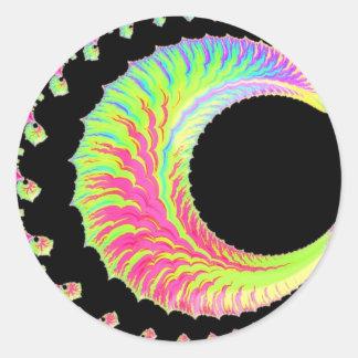 108-46 lua do crescente do arco-íris adesivo redondo