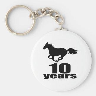 10 anos de design do aniversário chaveiro