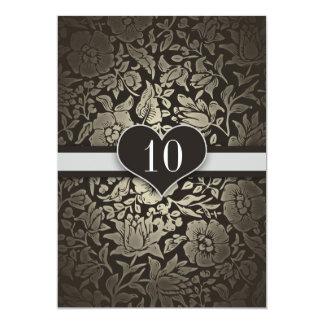10 de casamento do aniversário anos de convites do